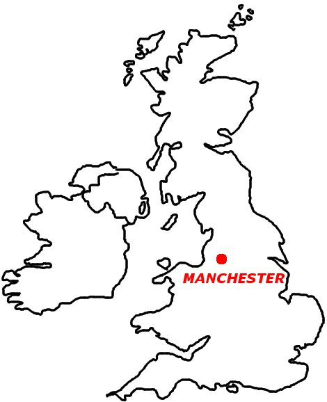 UK Map - Manchester - C-B-P UK Centre
