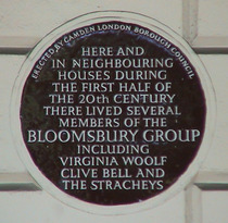 bloomsbury group plaque