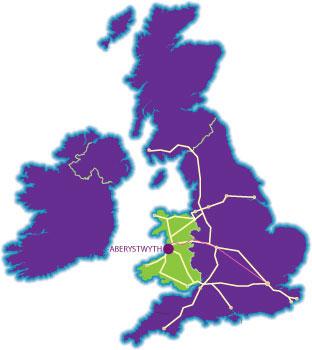 map Aberystwyth