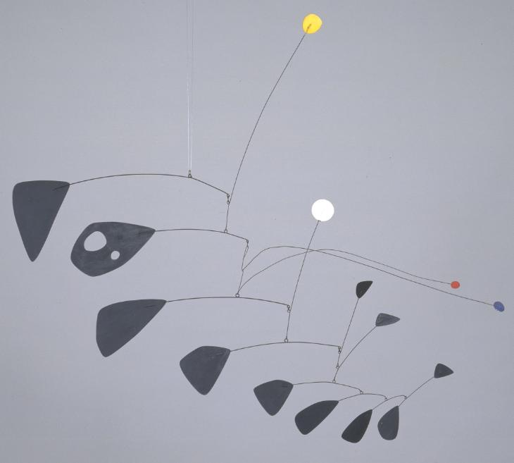 Antennae with Red and Blue Dots 1960 Alexander Calder 1898-1976 Purchased 1962 http://www.tate.org.uk/art/work/T00541